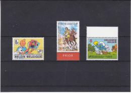 Tintin - Stroumph - Chevalier Ardent - Belgique - 3 Timbres Bandes Dessinées - Bandes Dessinées