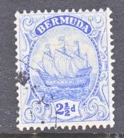 Bermuda 44  (o)  Wmk 3   SAILING SHIP - Bermuda