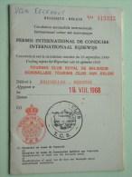 PERMIS International De CONDUIRE / Int. RIJBEWIJS Brussel 1968 N° 515335 ( Eeckhout Herent / Zie Foto Voor Détail ) ! - Non Classés