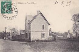 22866 AMFREVILLE -- La Poste Et L'Eglise -...6 Voisin Caen - - Non Classés