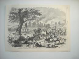GRAVURE 1862. GUERRE D'AMERIQUE. MASSACRES COMMIS PAR LES TROUPES SECESSIONISTES DANS LE MISSOURI. - Stiche & Gravuren