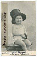 - Enfant - Chapeau Melon Et Plumier, Mignon, Précurseur, CPA Suisse, écrite, 1903, BE, Scans. - Cartes Humoristiques