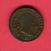 FERDINAND VII 8 MARAVEDI 1817 TB+9 - Espagne