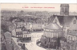 22871  AGEN Vue Panoramique Côté Cathédrale -16 Galeries Modernes- Tinturerie Nouvelle - Agen