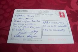 TIMBRE OBLITERATION FLAMME °  04 Val D´allos Le 13/08/1993 - Marcophilie (Lettres)
