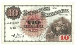 Sweden 10 Kronor 1938 UNC/AUNC - Svezia
