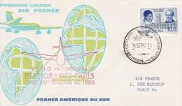 PLI 1960 Vuelo Inaugural BUENOS AIRES PARIS Servicio Aeropostal Première Liaison Air FRANCE. - Airplanes