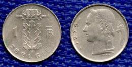 BELGIEN 1 Franc 1975. - 04. 1 Frank