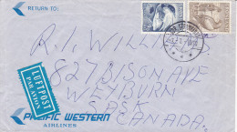 Cover & Letter , Pacific Western Airlines , PU-1970 GRONLAND - Greenland