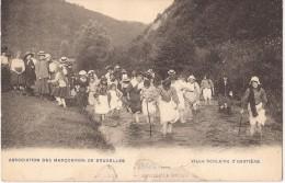 ACP - CPA - HASTIERE - MARCUNVINS - TRE RARE -  Ecrite - Timbrée 1909 - COB 81 - Animée - 2 Scan - Verzamelingen