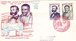 FDC FRANCE N° Yvert 1187-1188 (CROIX-ROUGE) Obl Sp Ill 1er Jour - 1950-1959