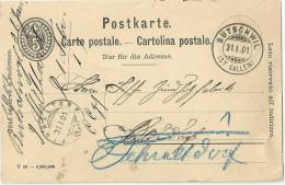 PK 26  Bütschwil (St.Gallen) - Fehraltdorf               1901 - Entiers Postaux