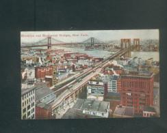 USA - New York - Brooklyn And Manhattan Bridges ( Success Postal Card) - Ponts & Tunnels