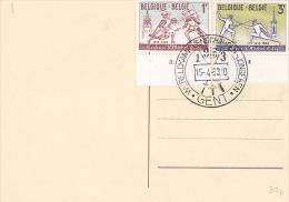 Belgium 1963 Fencing Competition Souvenir Card - Cartas Commemorativas