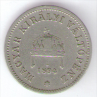 UNGHERIA 10 FILLER 1894 - Ungheria
