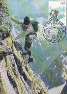 Belgium 1983 Alpinism Maximum Card - Maximum Cards
