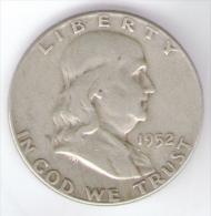 STATI UNITI HALF DOLLAR 1952 AG SILVER - Emissioni Federali