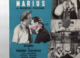 VINYLE 33 TOURS - MARIUS DE MARCEL PAGNOL- RAIMU ET PIERRE FRESNAY -CHARPIN- COLUMBIA - Soundtracks, Film Music