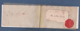 CURIEUSE CARTE DE VOEUX DATEE DE 1913 AVEC CARTE DE VISITE - ST LOUIS / MARLBOROUGH GROVE / YORK - Cartoncini Da Visita