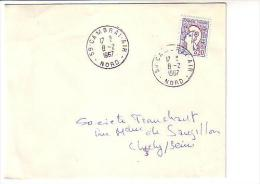 Marianne De Cocteau (probable Type 2) , Cambrai Air Nord - Poststempel (Briefe)