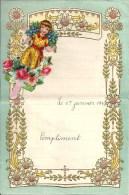 Superbe Lettre Gaufrée Avec Decoupi à Système - Enfant - 1942 - Enfants