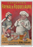 AFFICHE ALIMENTATION -  CONSERVES RAYNAL & ROQUELAURE CAPDENAC - TRUFFE  CUISINIER - SIGNEE AUZOLLE - Affiches