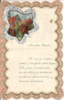 Superbe Lettre Gaufrée Avec Decoupi - Fleurs - 1940 - Découpis