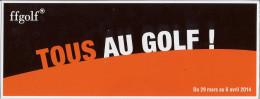 Golf Club Balle Ball  Féderation Française De Golf - Golf