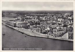 Italia,italie,puglia,brin Disi,stazione  Marittima E Panorama Parziale 1950,rare,raro - Brindisi