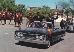 AFRIQUE,AFRICA,TCHAD,TSHA D,pr�s LIBYE,ex protectorat Fran�ais,PRESISENT TOMBALBAYE ET MOBUTU,D�capotable,D�fil�