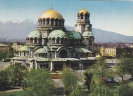 BULGARIE,BALGARIJA,BULGARIA,SOFIA,carte Avec Timbre,DOME ALEXANDRE NEVSKI - Bulgarie