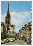 $ CPSM DS CITROËN, 404 PEUGEOT, ANCIEN CAMION DE CHARBONNIER ROUEN 76 SEINE MARITIME - Rouen