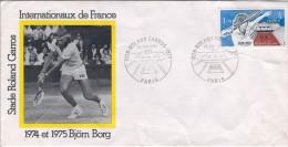 TENNIS Roland GARROS Internationaux De France PARIS. LETTRE. - FDC