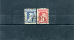 """1917-Greece- """"Provisional Government"""" 10l.+1dr. Stamps Used Hinged W/ """"Serrai"""" Type XIV Postmarks - Used Stamps"""