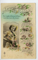 CPA LE LANGAGE DES ROSES - CIRCULéE 1957 - - Flores, Plantas & Arboles