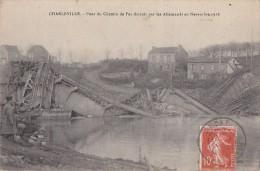 Charleville 08 - Guerre Novembre 14-18 - Pont Chemin De Fer Détruit - Cachet Omont 1922 - Charleville