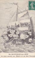 22882  Blonville Sur Mer  Envoie Fleurs Et Un Bon Souvenir - Ed, Bateau Carte Postale