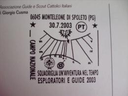 S3 SCOUTS SCOUTING JAMBOREE ITALY - 2003 MONTELEONE SPOLETO PERUGIA MERIDIANA - Scoutisme