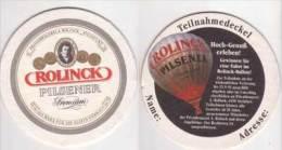 Rolinck Brauerei Burgsteinfurt Premium Pilsener , Rolinck Ballon - Teilnahmedeckel Gewinnspiel 1991 - Beer Mats