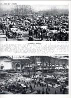 Foire Aux Bestiaux à Bourg Dans L´Ain   Planche Héliogravure Salon De L´automobile 1959 - Vieux Papiers