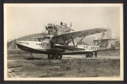 CPA AVIATION - Carte Photo Hydravion Atlantique Sud LOIRE 102 Bretagne - Etang De Berre - 1919-1938: Entre Guerres
