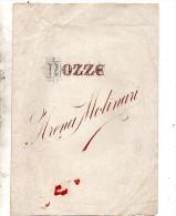 1900 NOZZE TRA ROSINA MOLINARI CON  IL CAVALIERE ALFREDO ARENA - Annunci Di Nozze