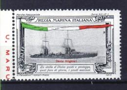 ERINNOFILO  MILITARE - REGIA MARINA ITALIANA  LA DANTE ALIGHIERI - Erinnofilia