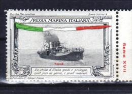 ERINNOFILO  MILITARE - REGIA MARINA ITALIANA  LA  NAPOLI - Erinnofilia