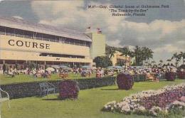 Florida Hallandale Colorful Scene at Gulfstream Park Horse Racin