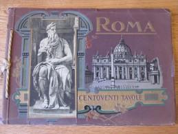 ROMA CENTOVENTI TAVOLE 120 RICORDO DI VEDUTE PITTURA SCULTURA ATTILIO SCROCCHI VUES DE ROME ITALIE SOUVENIRS OBLONG FOTO - 1901-1940