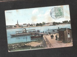 CPA ALLEMAGNE Neuwied Rhein Boat Dampfer Shipping Pier SENT TO Australia Gelaufen  Used - Allemagne