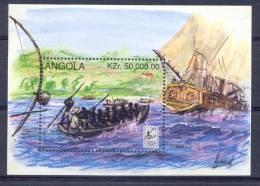 """ANGOLA 1996 Ships """"lubrapex 95"""" - Bateaux"""