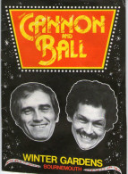 CANNON AND BALL - WINTER GARDENS - BOURNEMOUTH - PROGRAMME - 1982 - Programs