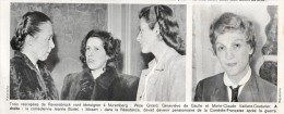 1969 Illustration :  TROIS RESCAPEES DE RAVENSBRÜCK VONT TEMOIGNER A NUREMBERG:WISE GIRARD, G. DE GAULLE ET MC VAILLANT - 1939-45